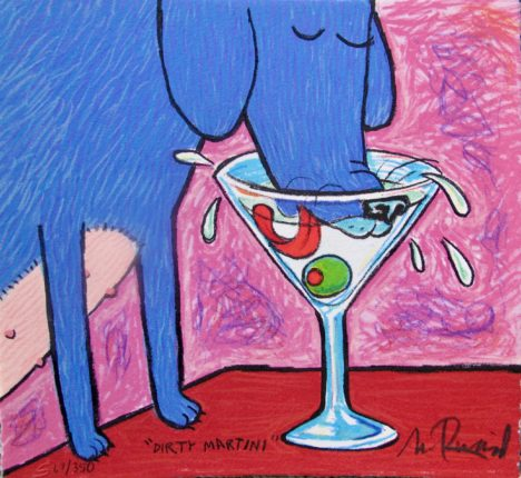 "MATT RINARD ""DIRTY MARTINI"" Hand Signed Limited Edition Art Lithograph"