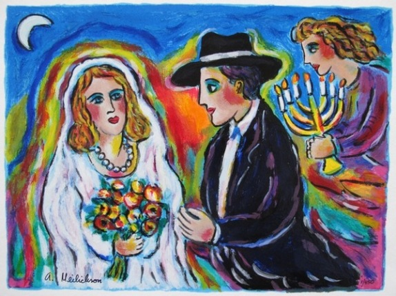 Alex Meilichson MOONLIGHT WEDDING Hand Signed Limited Ed. Serigraph