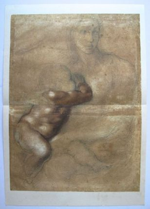 "MICHELANGELO 1970 Lithograph ""MADONNA AND CHILD"""