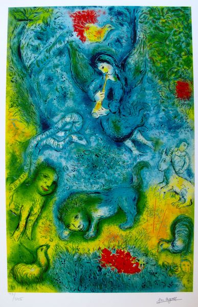 Marc Chagall MAGIC FLUTE Limited Edition Facsimile Signed Small Giclee