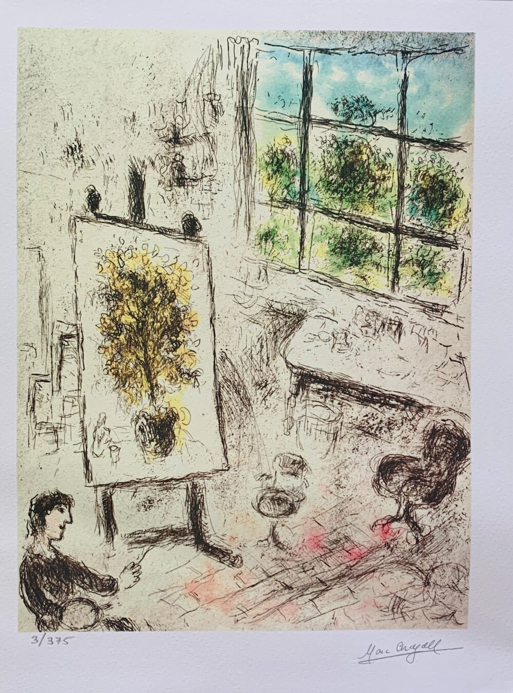 Marc Chagall ARAGON MALRAUX Limited Edition Facsimile Signed X-Small Giclee