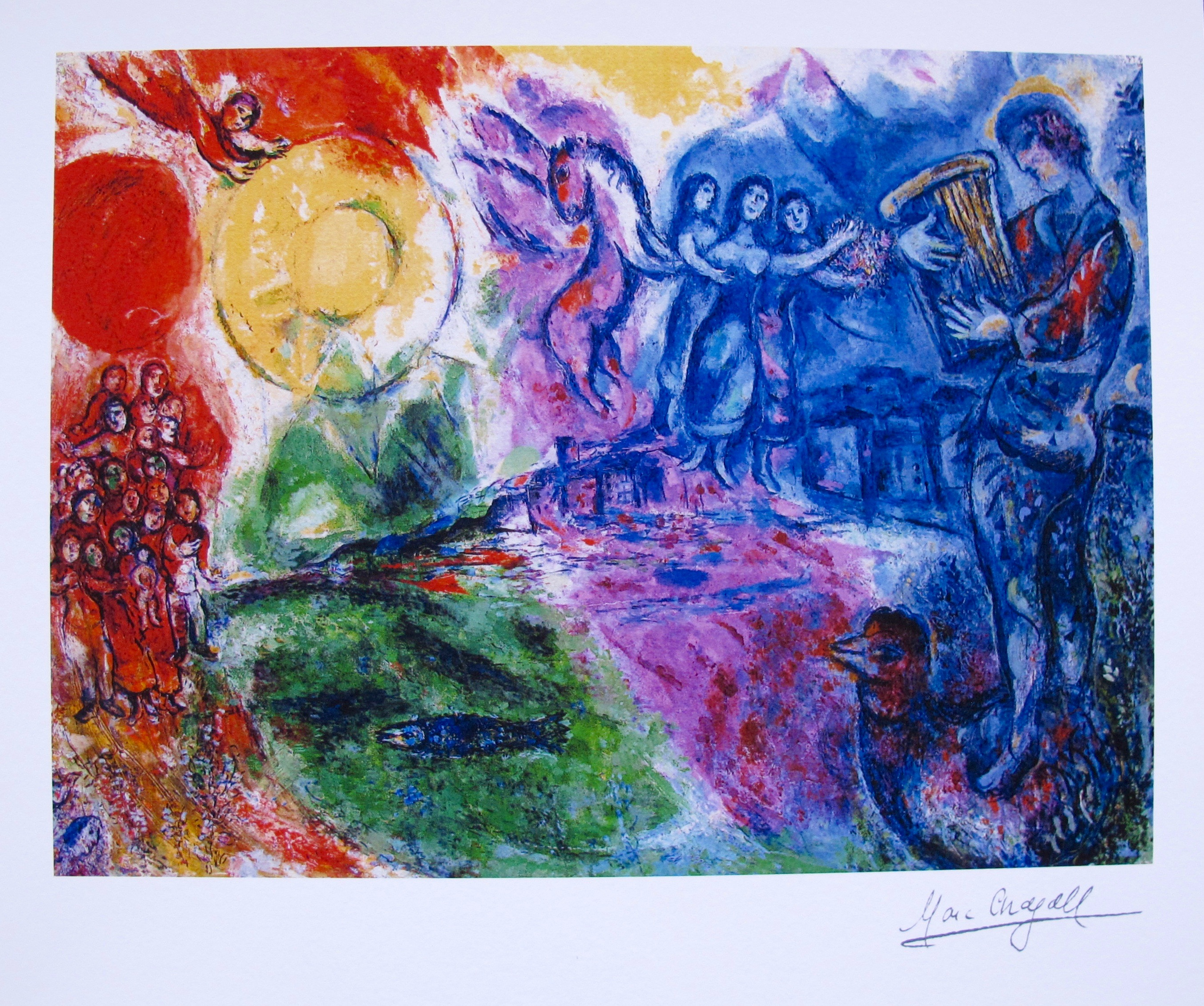 Marc Chagall ORPHEUS Limited Edition Facsimile Signed Small Giclee