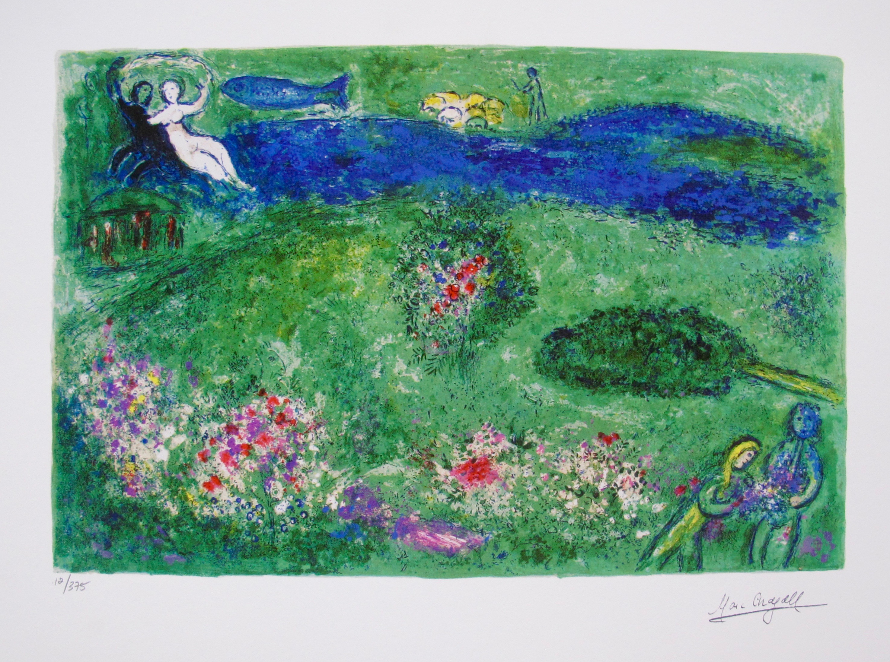 Marc Chagall THE ORCHARD Limited Edition Facsimile Signed Small Giclee