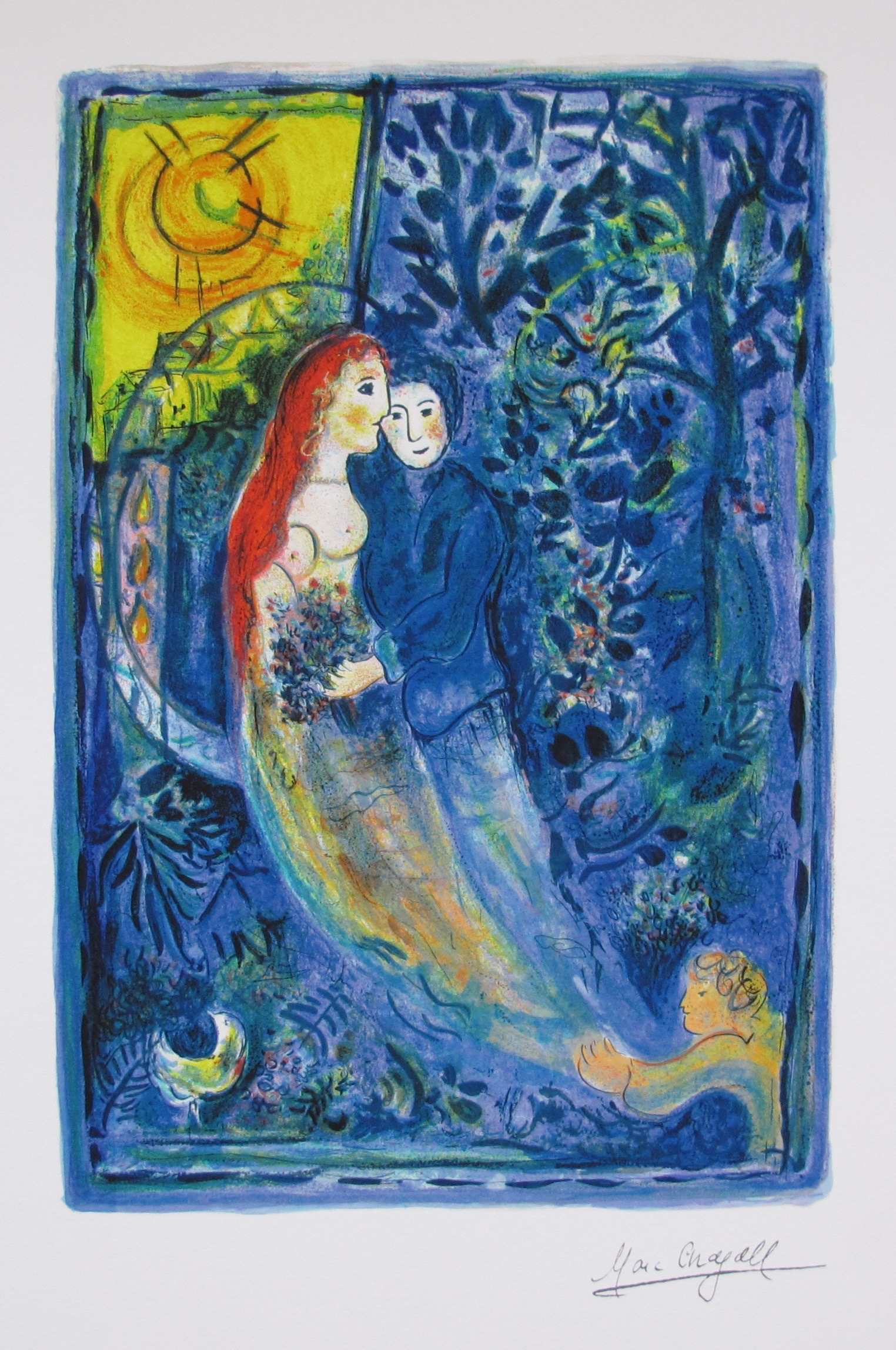 Marc Chagall WEDDING Limited Edition Facsimile Signed Small Giclee