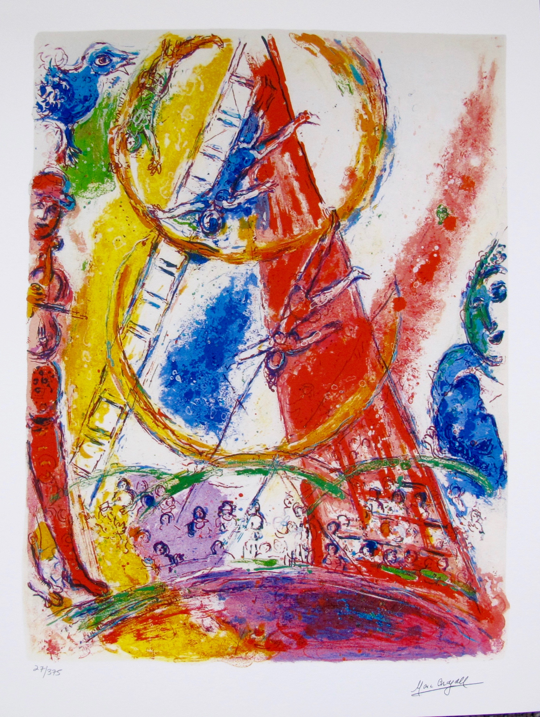 Marc Chagall CIRCUS III Limited Edition Facsimile Signed Small Giclee