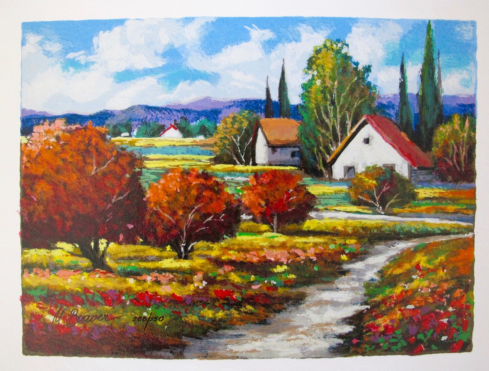 """MARK BRAVER """"THE WAY BACK HOME"""" Hand Signed Limited Edition Serigraph"""