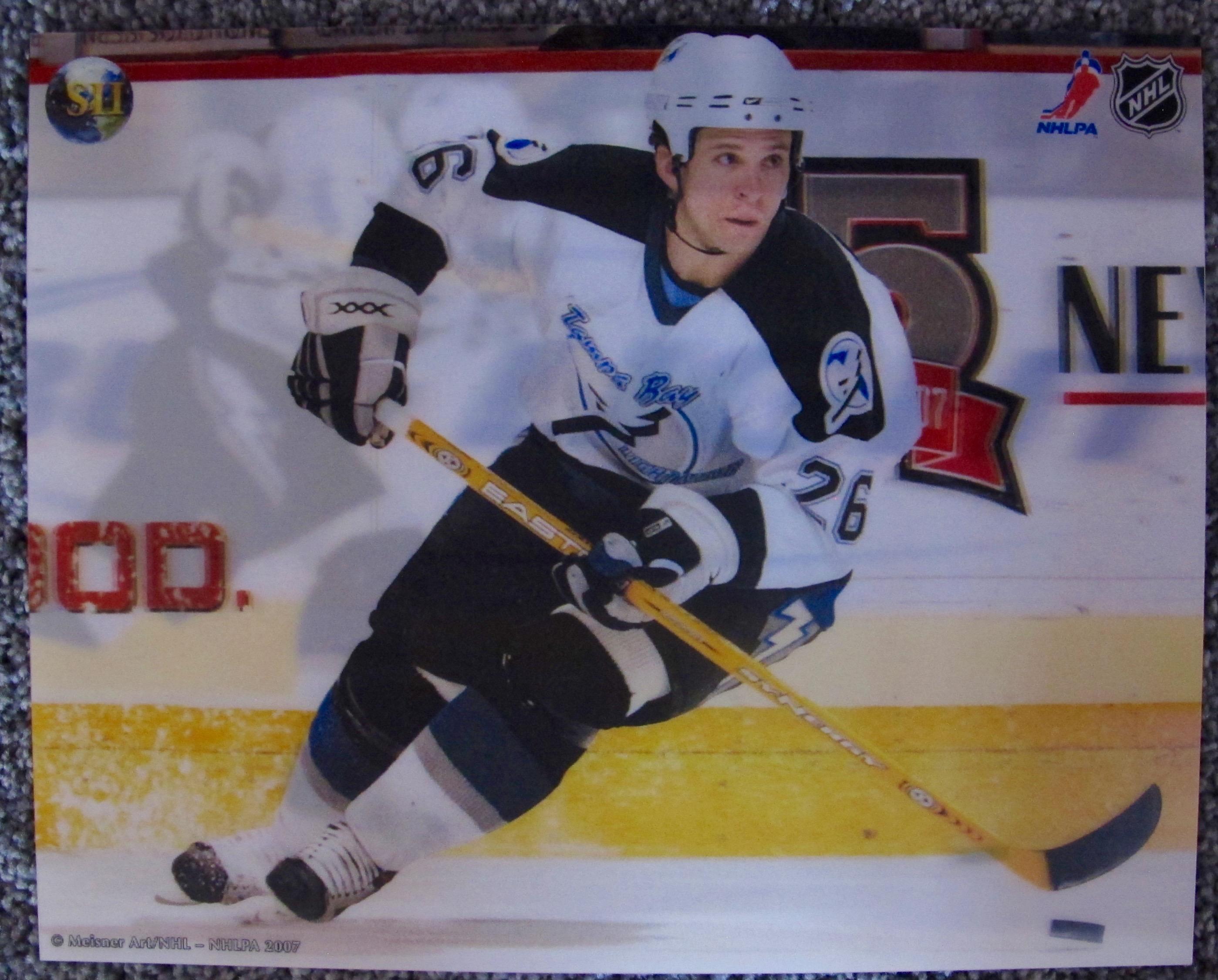 MARTIN ST. LOUIS TAMPA BAY LIGHTNING 3-D HOLOGRAM PHOTO MEISNER ART NHL HOCKEY
