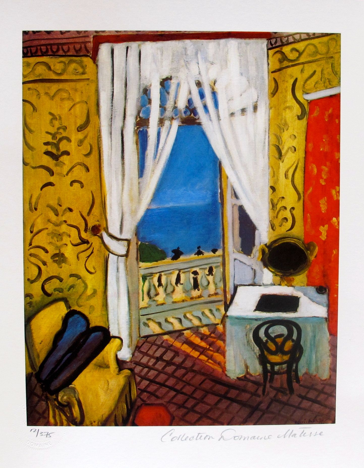 "HENRI MATISSE ""INTERIOR WITH A VIOLIN CASE"" Estate Signed Limited Edition Giclee"
