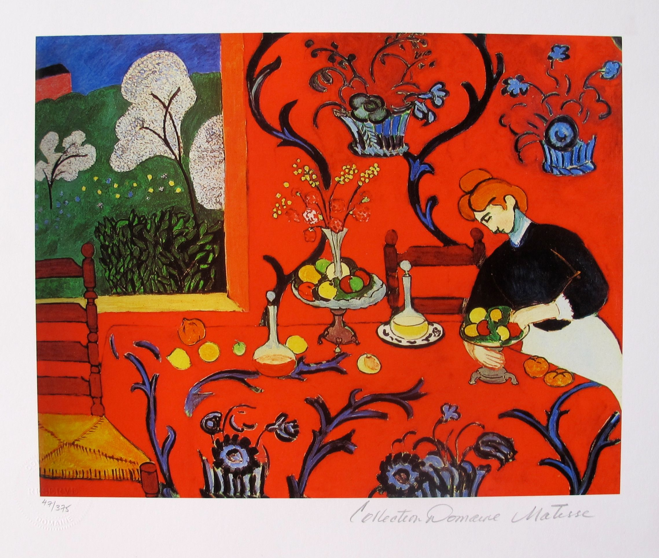HENRI MATISSE THE RED ROOM Estate Signed & Stamped Limited Edition Small Giclee