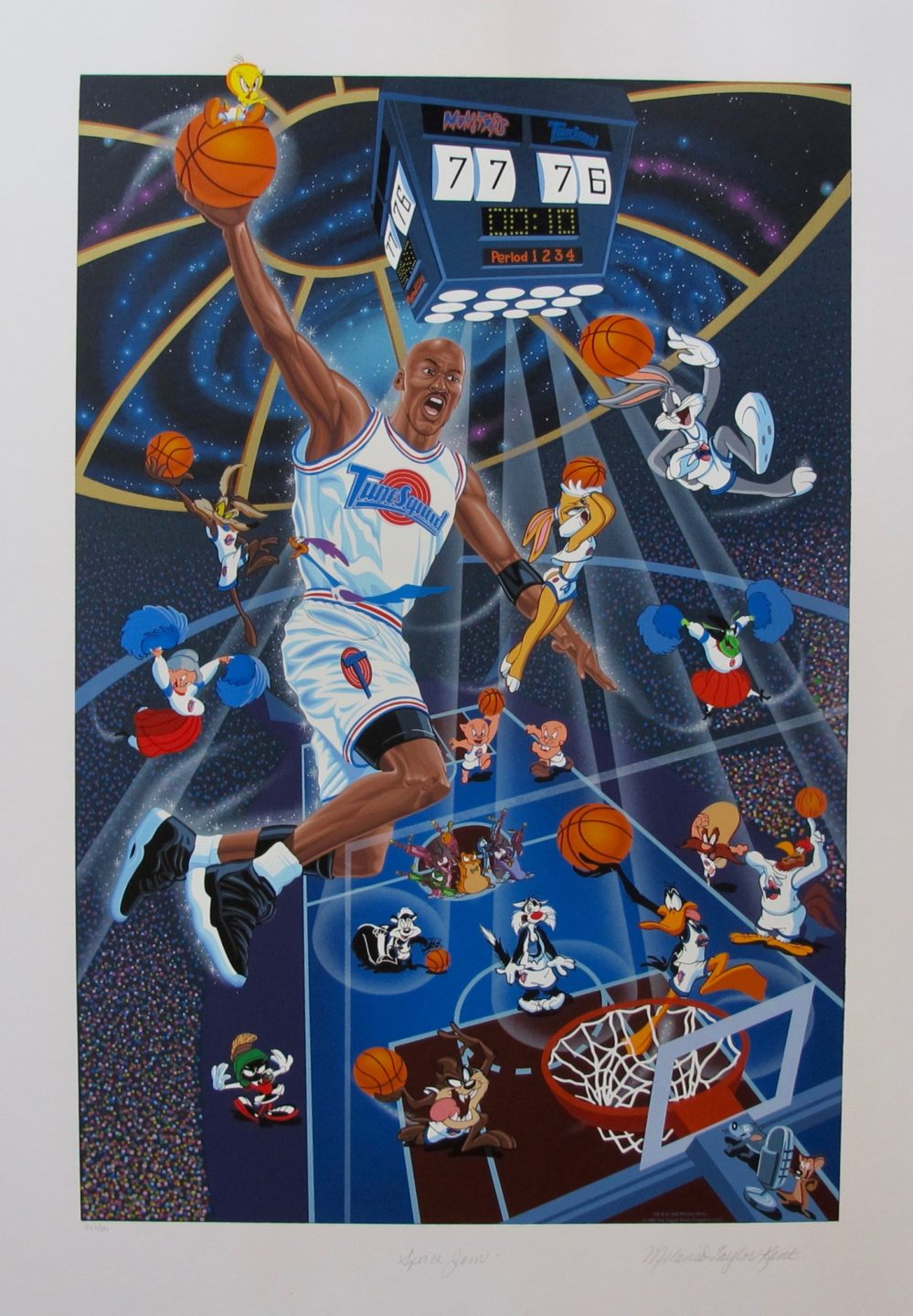 Melanie Taylor Kent SPACE JAM Hand Signed Limited Edition Serigraph MICHAEL JORDAN