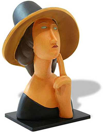 Amedeo Modigliani JEAN HEBUTERNE PORTRAIT Sculpture