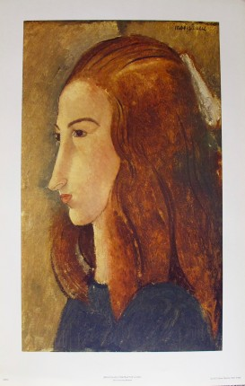 Amedeo Modigliani PORTRAIT OF A GIRL Plate Signed Limited Edition Lithograph