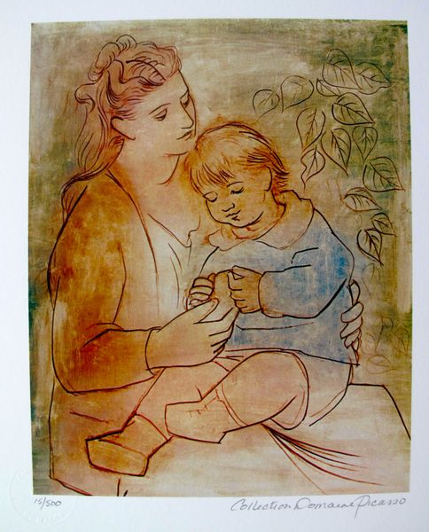 #086 MOTHER AND CHILD Pablo Picasso Estate Signed Giclee