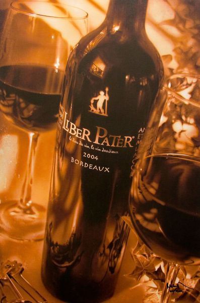 "NOAH ""LIBER PATER"" Hand Signed Giclee on Canvas Hand Embellished WINE ART"