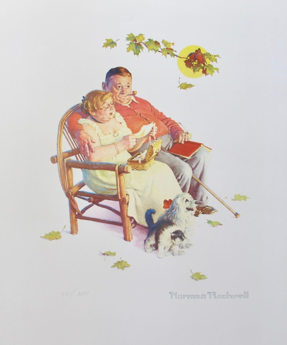 Norman Rockwell FONDLY DO WE REMEMBER 1956 Plate Signed Limited Edition Lithograph
