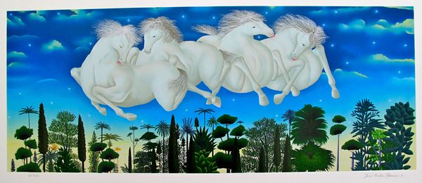 Jose Carlos Ramos ON THE HORIZON Hand Signed Limited Ed. Serigraph