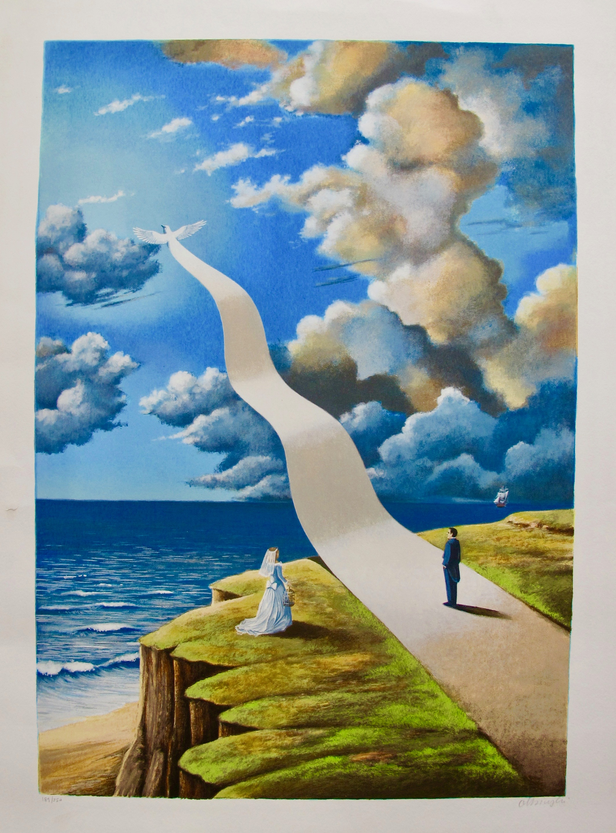 """RAFAL OLBINSKI /""""PROCLAMATION OF VALUE/"""" Hand Signed Limited Edition Serigraph"""