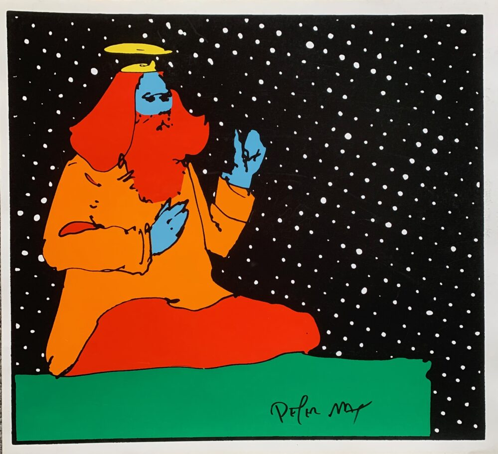 PETER MAX Satchidananda Guru 1972 Hand Signed Serigraph