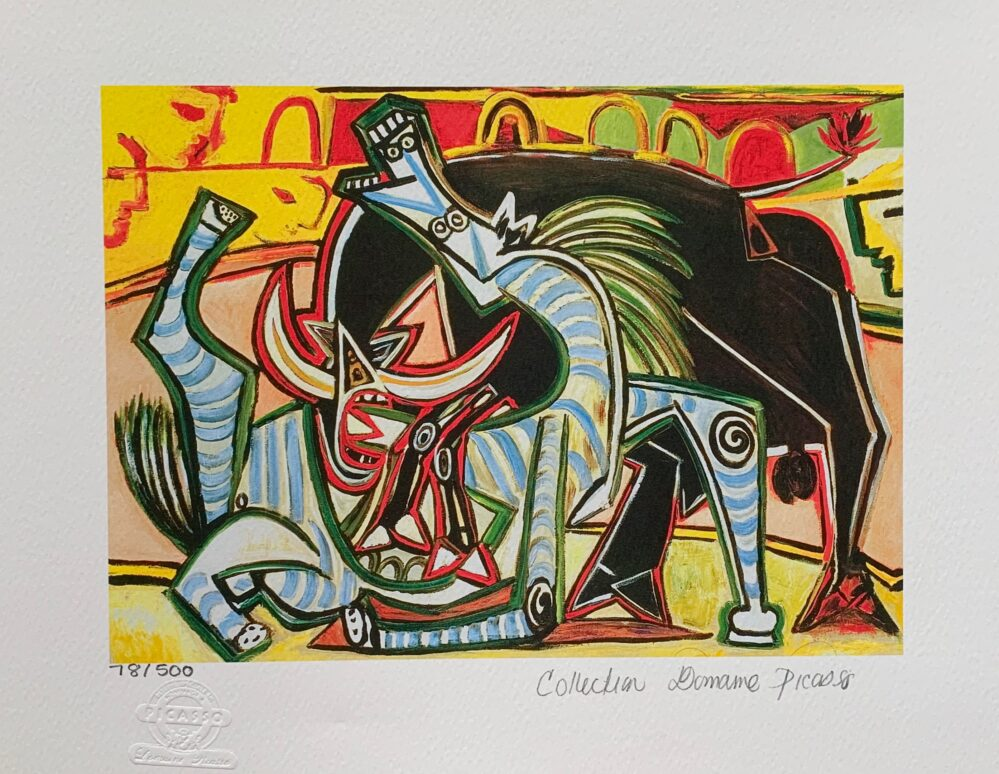 Pablo Picasso BULLFIGHT Estate Signed Limited Edition Small Giclee