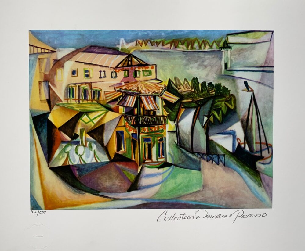 Pablo Picasso CAFE ROYAN Estate Signed Limited Edition Giclee Medium Size