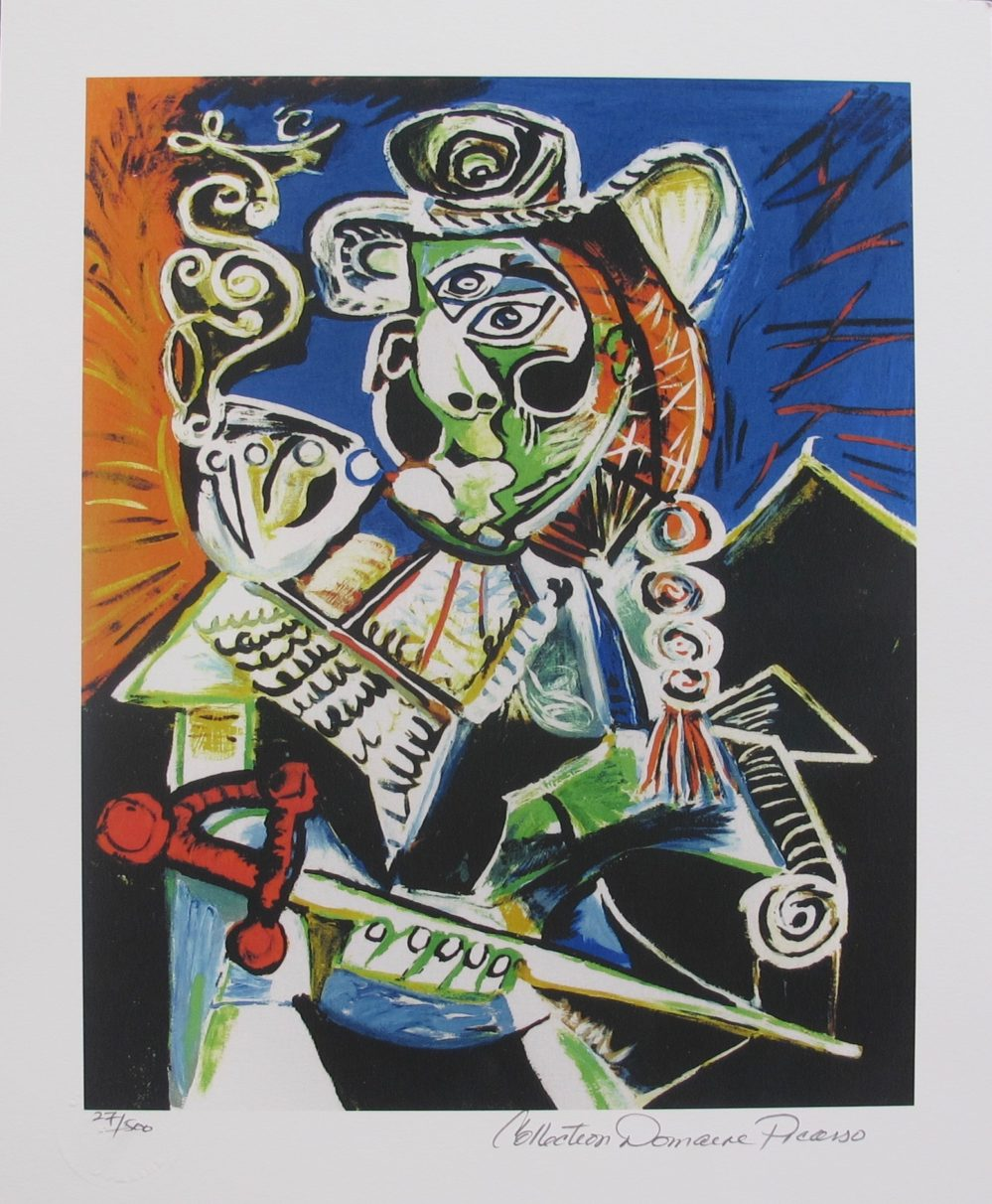 Pablo Picasso CAVALIER WITH PIPE Estate Signed Limited Edition Small Giclee