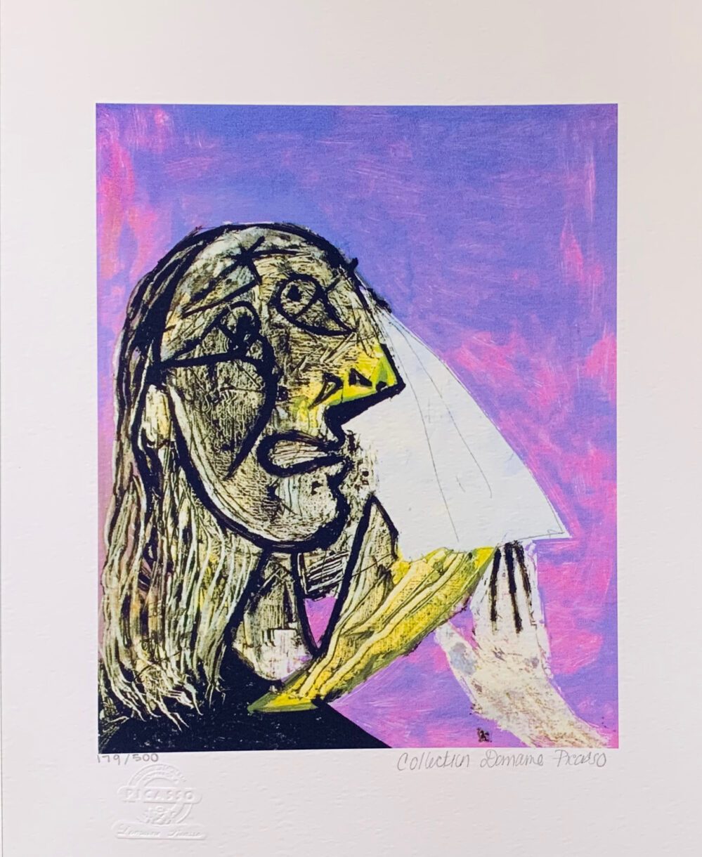 Pablo Picasso CRYING WOMAN Estate Signed Limited Edition Small Giclee