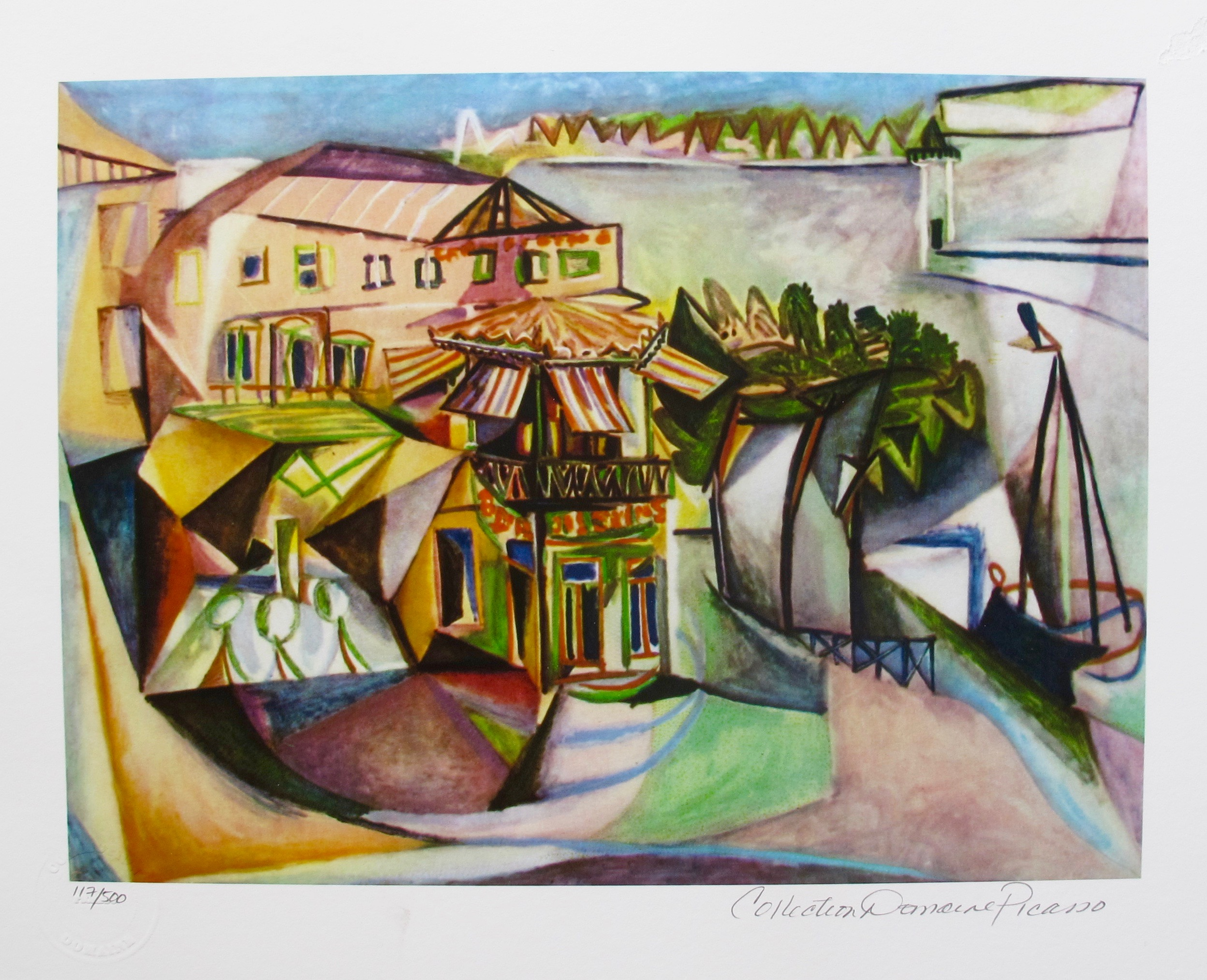 Pablo Picasso CAFE AT ROYAN Estate Signed Limited Edition Small Giclee