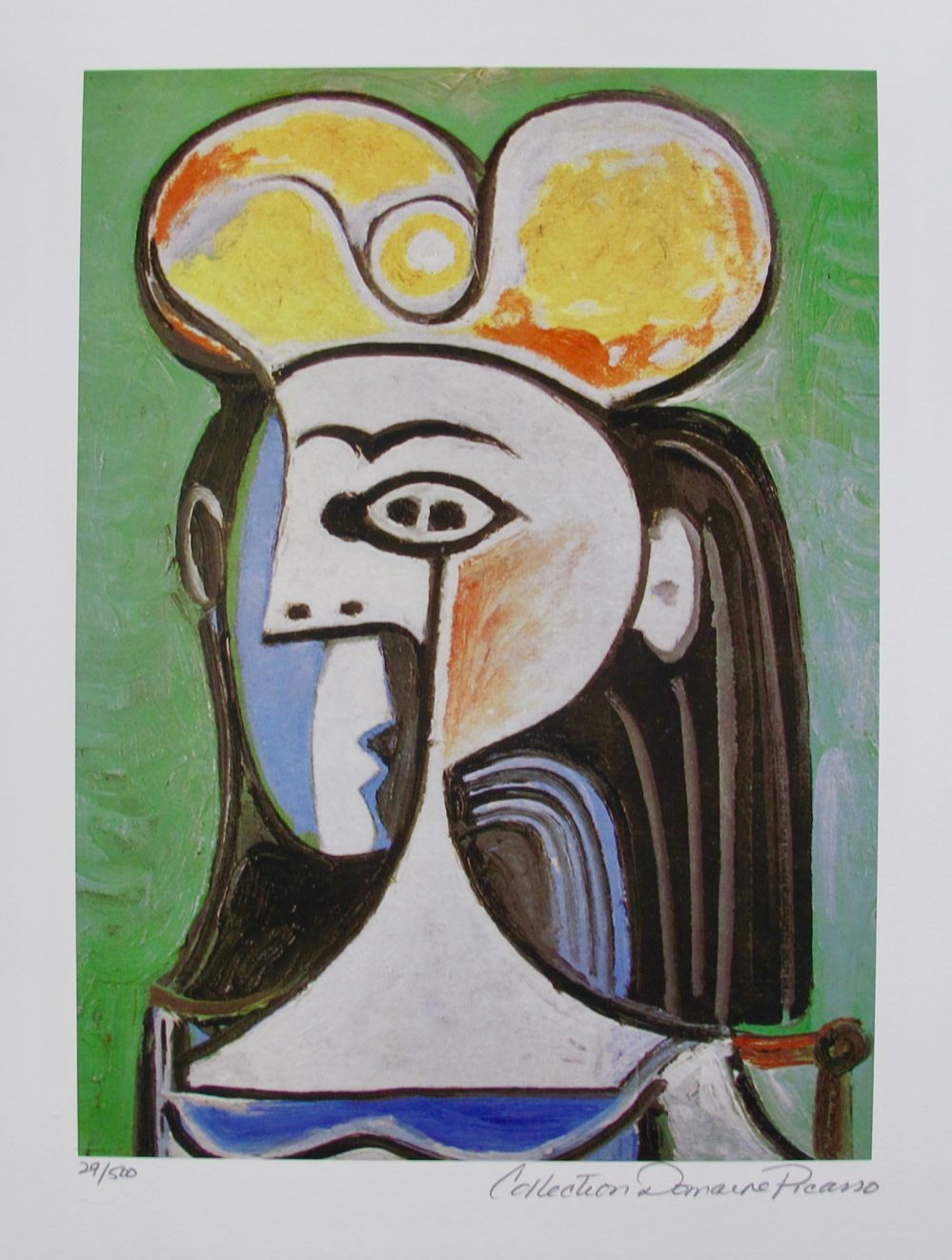 Pablo Picasso GIRL WITH BLACK HAIR Estate Signed Limited Edition Small Giclee