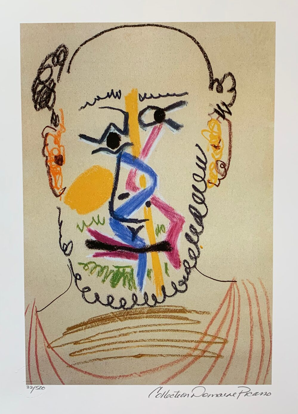 Pablo Picasso HALF BALD MAN WITH BEARD Estate Signed Limited Edition Small Giclee