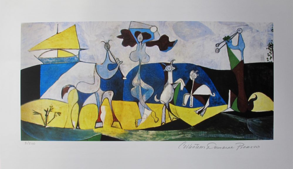 Pablo Picasso JOY OF LIVING Estate Signed Limited Edition Giclee