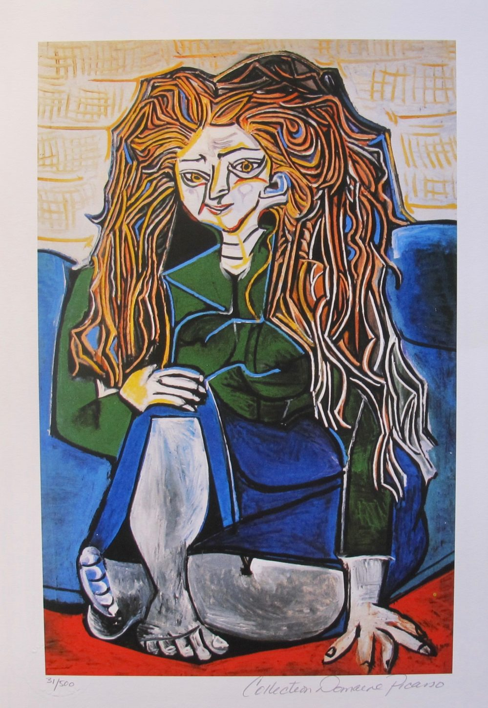 Pablo Picasso WOMAN SITTING CROSS LEGGED Estate Signed Limited Edition Small Giclee