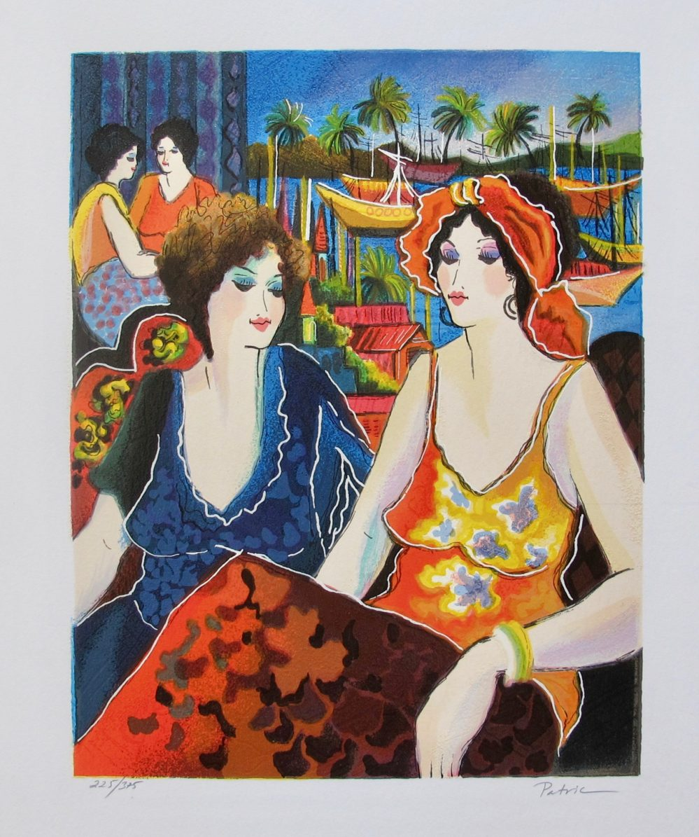 Patricia Govezensky FRIENDS BY THE BAYSIDE Hand Signed Limited Edition Serigraph