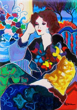 "Patricia Govezensky ""NANCY"" Hand Signed Serigraph on Canvas"