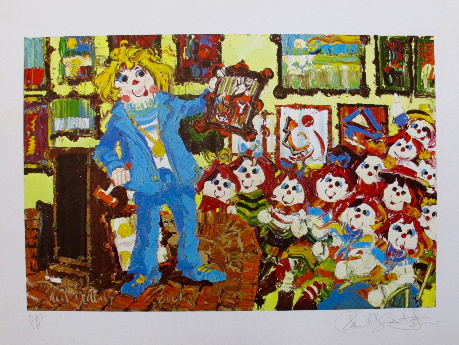 "Paul Blaine Henrie ""THE AUCTIONEER"" Limited Edition Art Raggedy Ann & Andy"