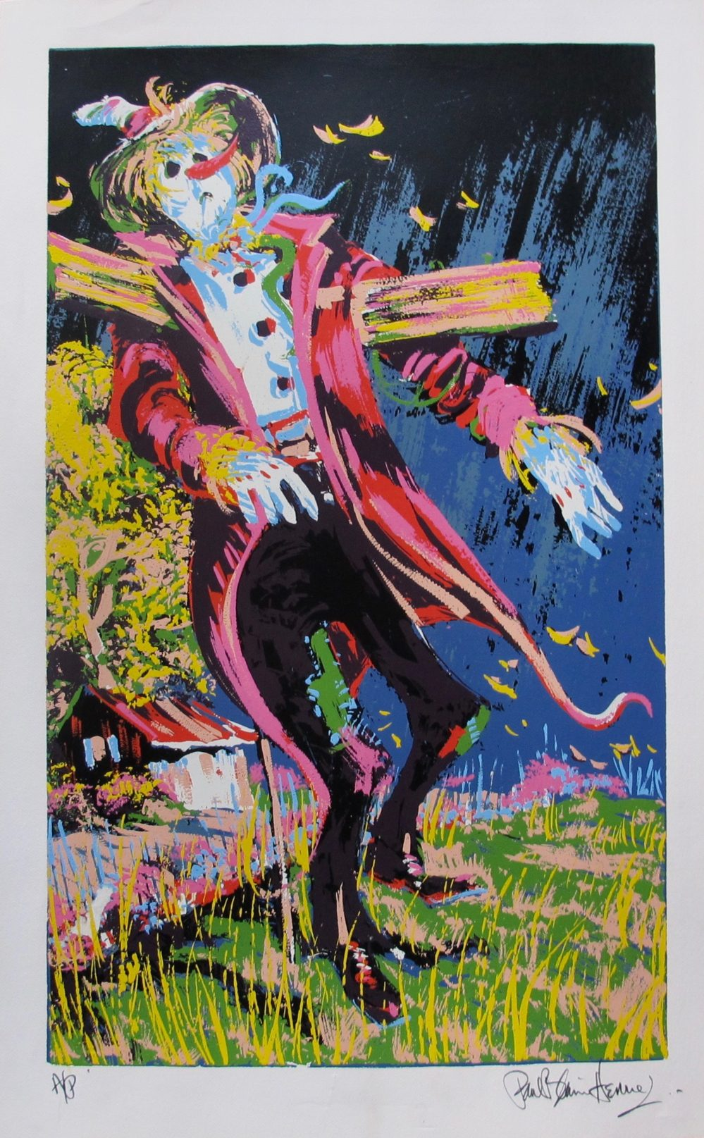 Paul Blaine Henrie SCARECROW Hand Signed Limited Edition Lithograph