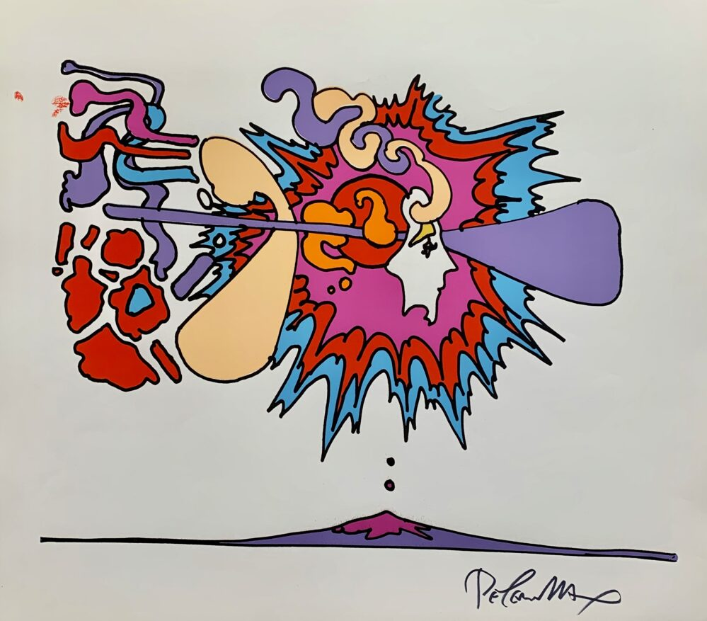 PETER MAX Faces 1972 Hand Signed Serigraph