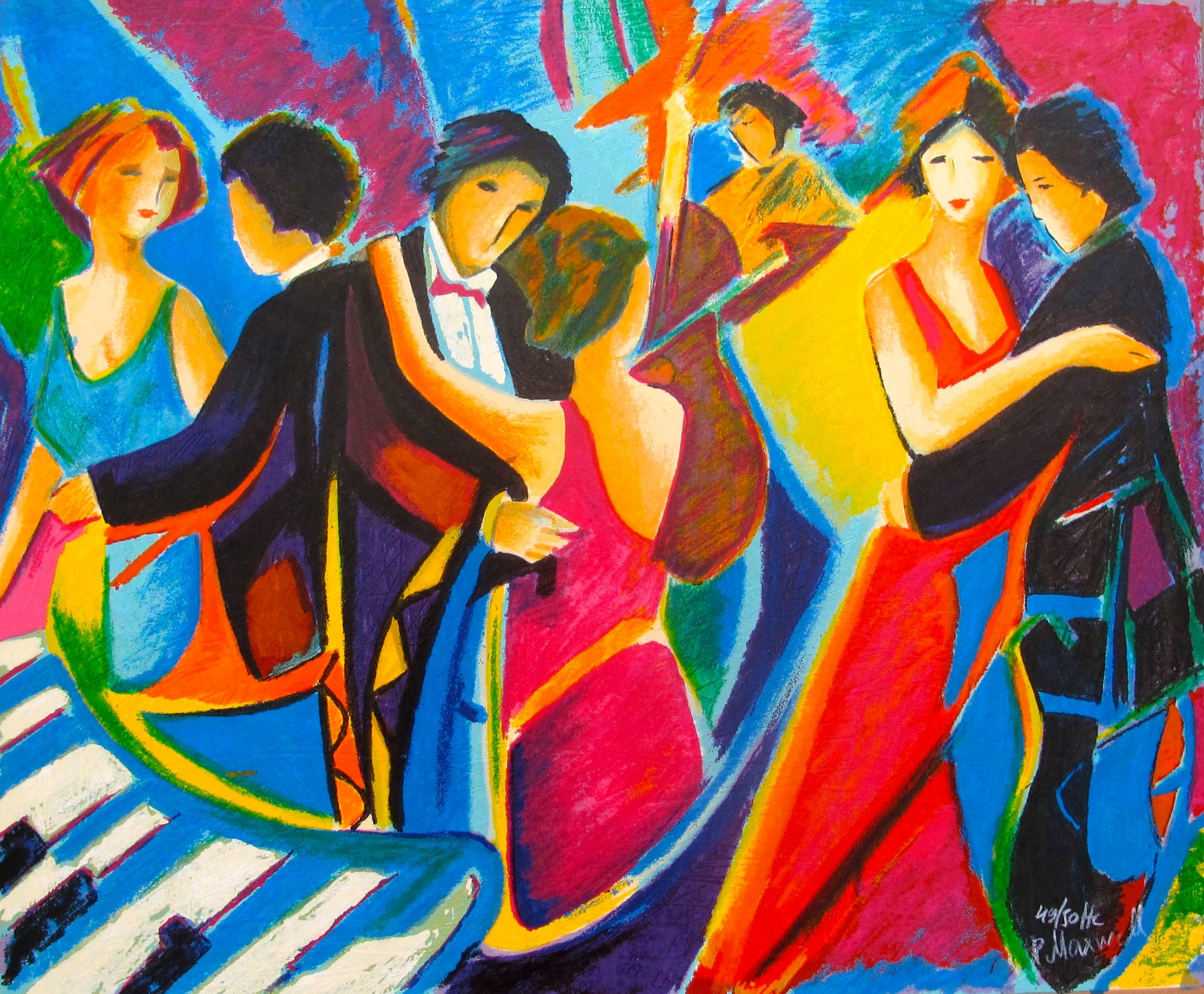 Philip Maxwell TANGO CLUB Hand Signed Limited Edition Serigraph