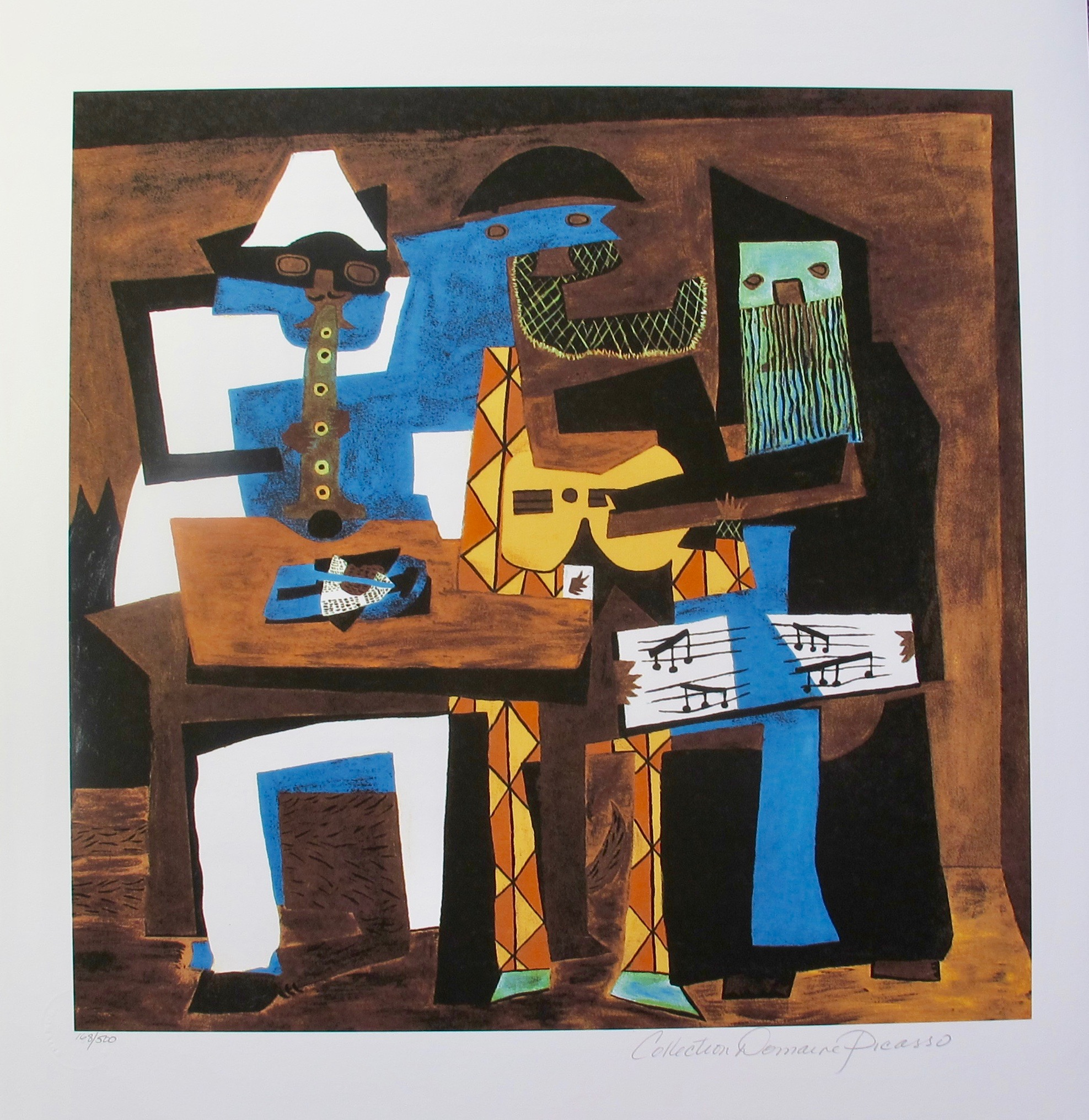 #13 THREE MUSICIANS Pablo Picasso Estate Signed Giclee