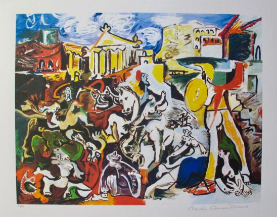 #04 THE RAPE OF THE SABINE WOMEN Pablo Picasso Estate Signed Giclee