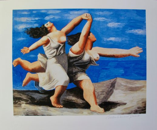 #07 RUNNING ON THE BEACH Pablo Picasso Estate Signed Giclee