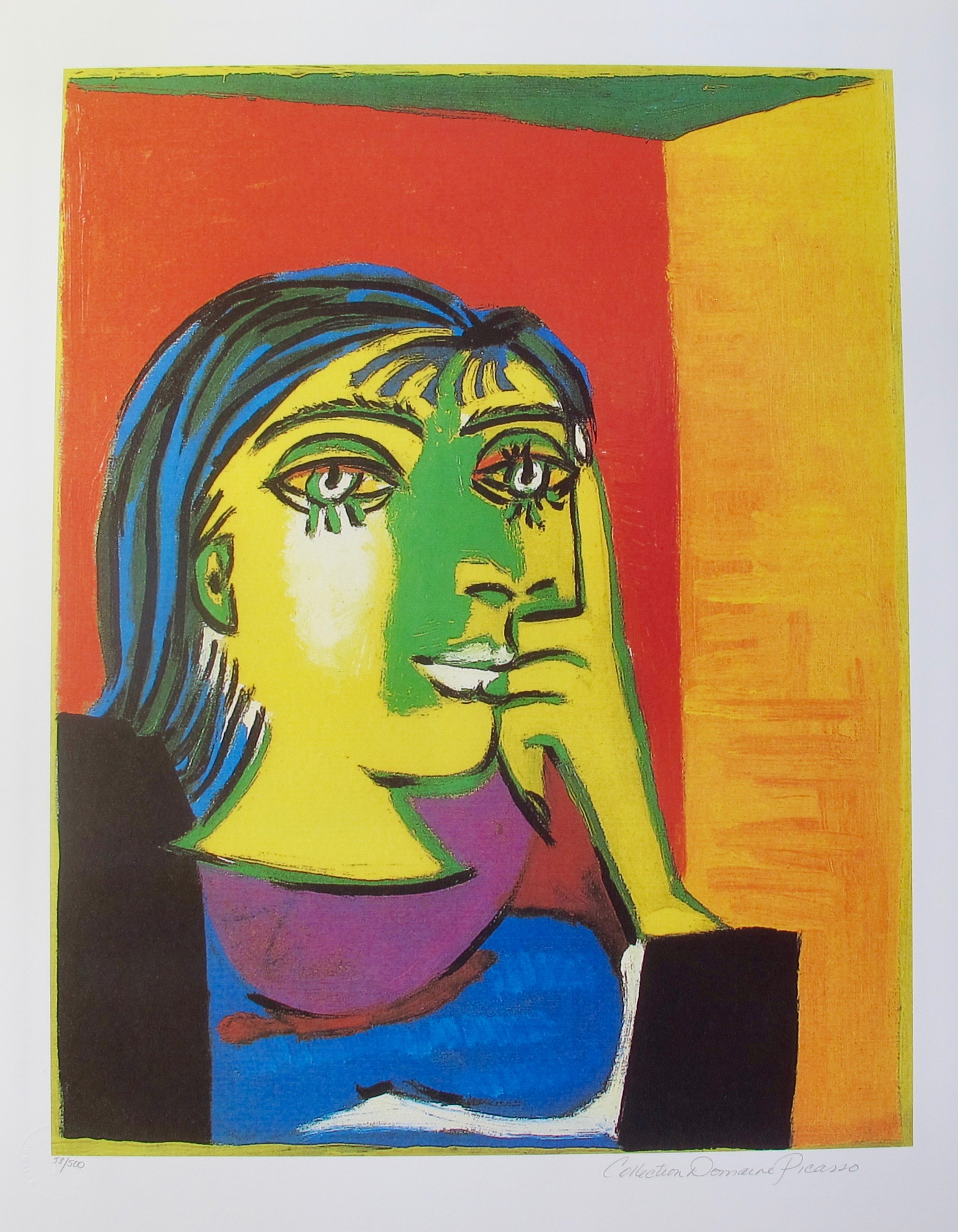 #78 PORTRAIT OF DORA MAAR Pablo Picasso Estate Signed Giclee