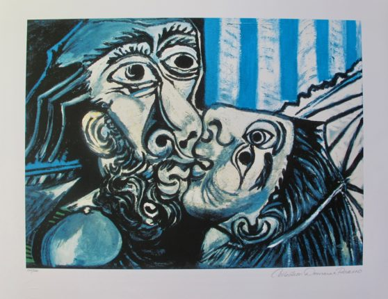 #08 THE KISS Pablo Picasso Estate Signed Giclee