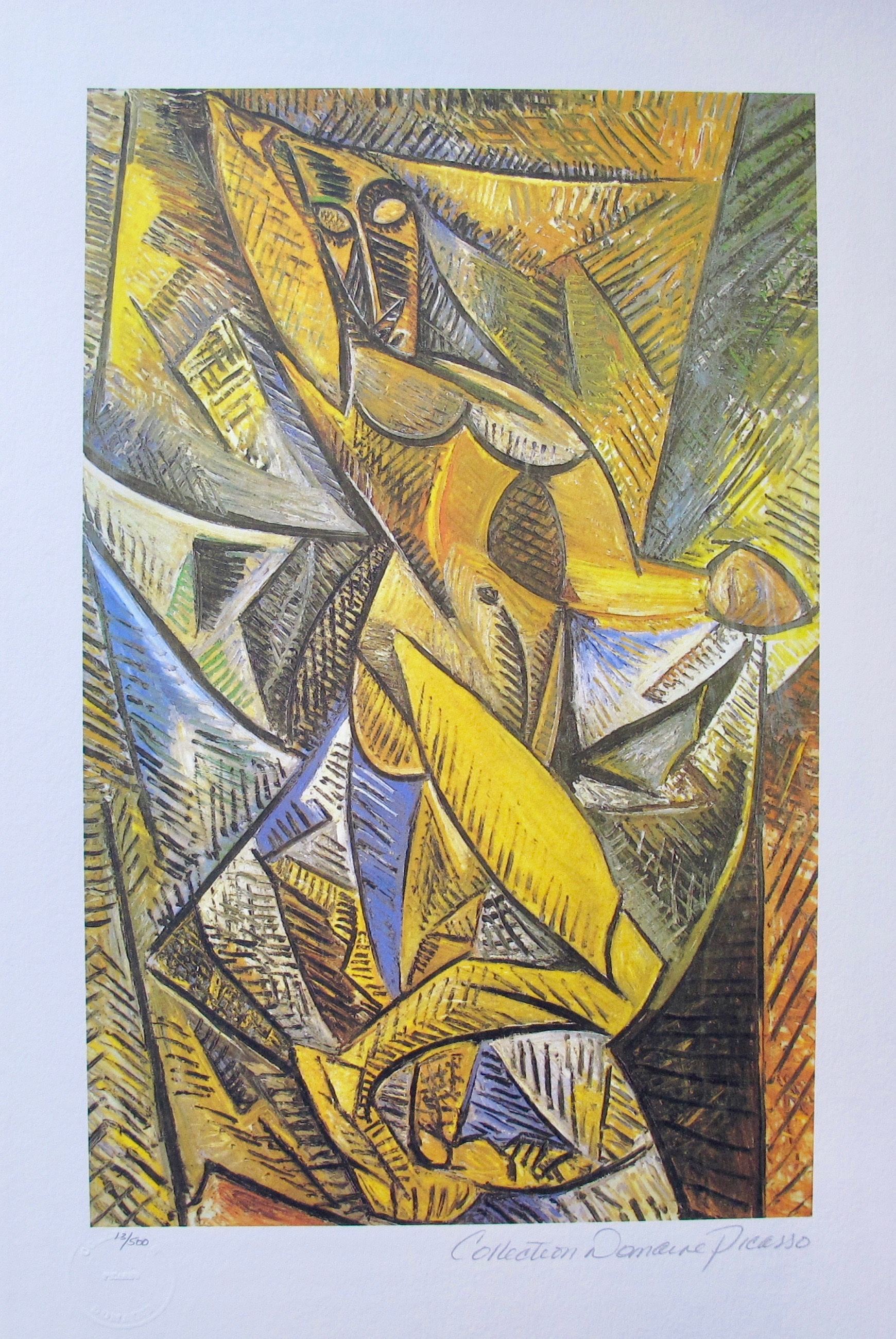 Pablo Picasso ABSTRACT FIGURE Estate Signed Limited Edition Giclee