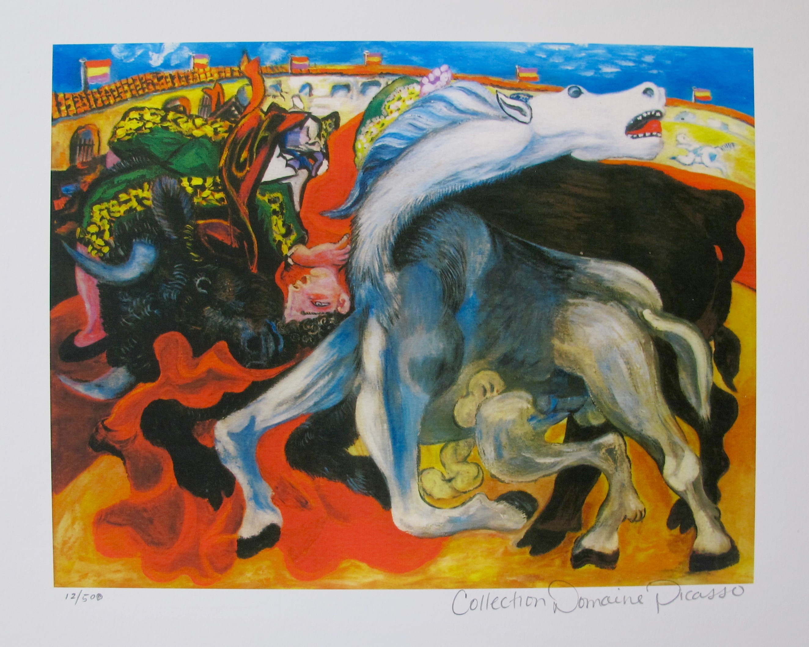Pablo Picasso BULLFIGHT, DEATH OF A TOREADOR Estate Signed Limited Edition Giclee