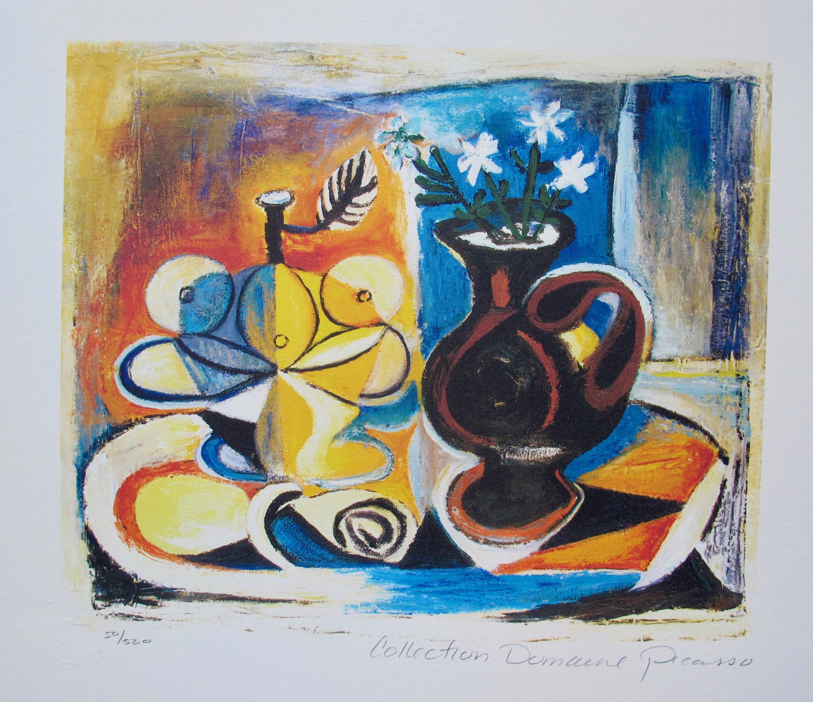 Pablo Picasso FRUIT WITH VASE OF FLOWERS Estate Signed Limited Edition Giclee