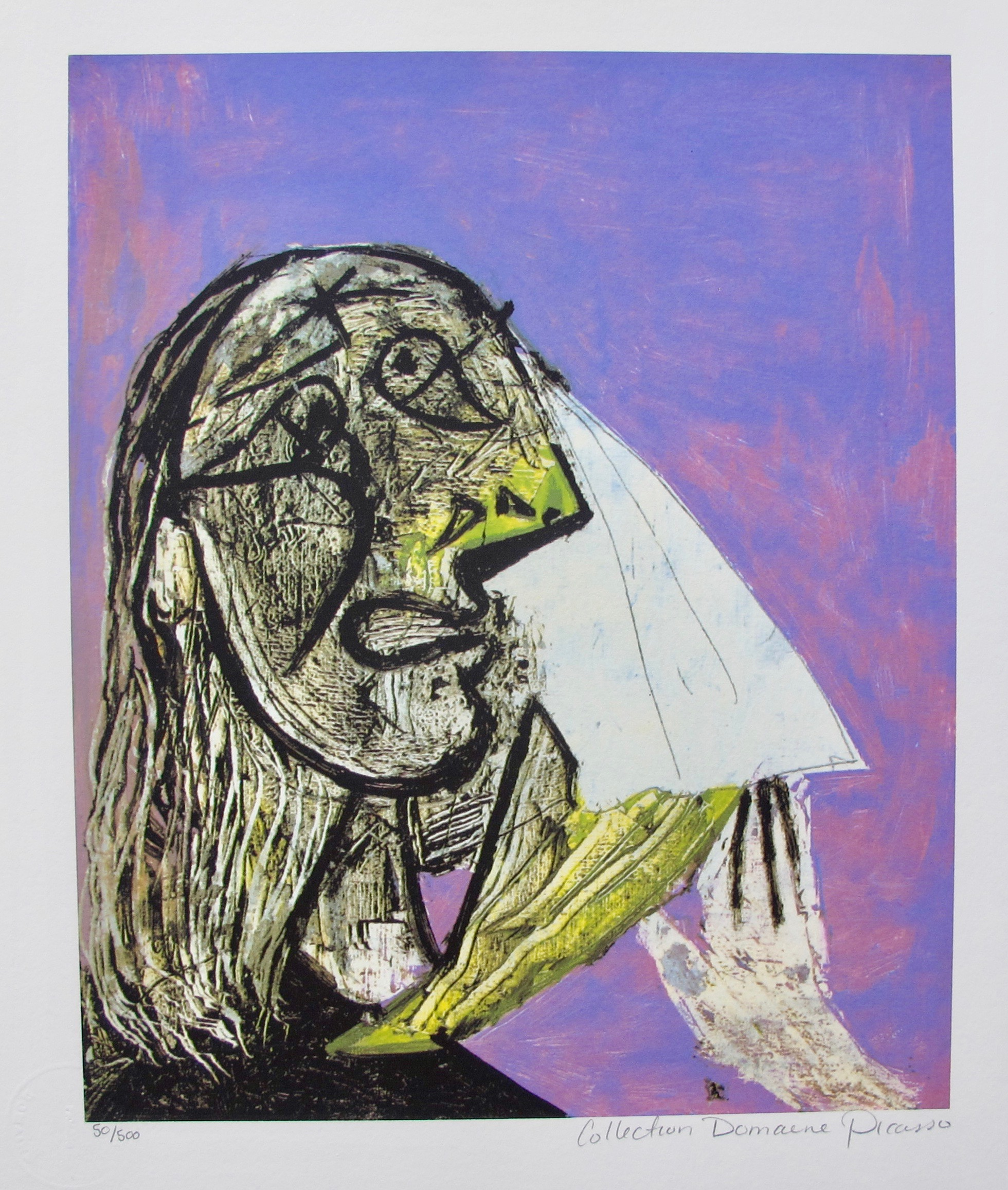 weeping woman Extracts from this document introduction weeping woman by picasso in the picture the weeping woman, there is allot of different moods and atmospheres here are a few: anger, sadness, spitefulness, hurt and pain.