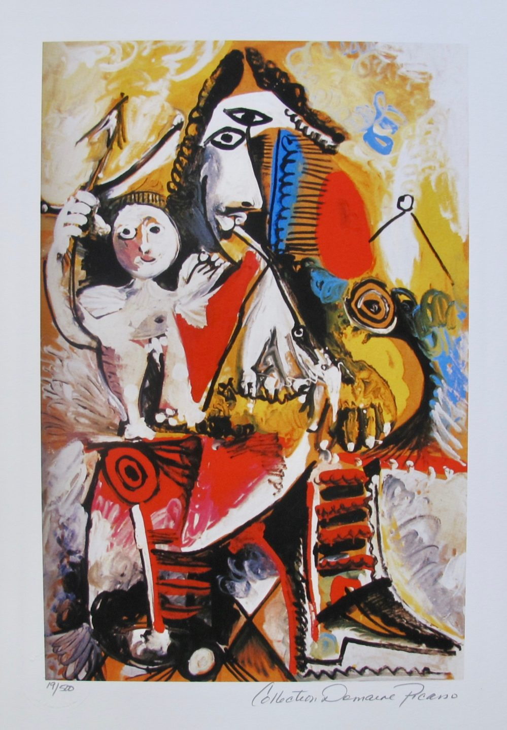 Pablo Picasso CHILD ON MAN'S LAP Estate Signed Limited Edition Small Giclee
