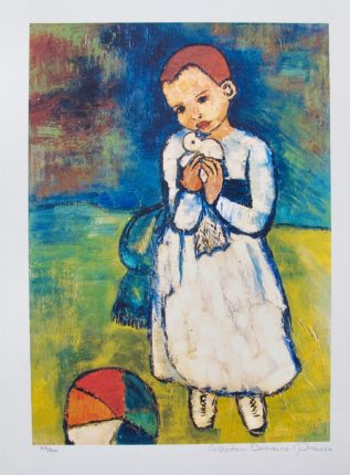 Pablo Picasso CHILD WITH DOVE Estate Signed Limited Edition Giclee