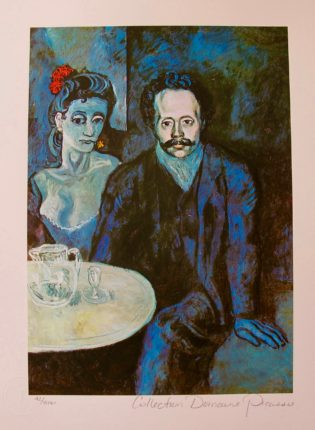 Pablo Picasso COUPLE AT CAFE Estate Signed Limited Edition Giclee