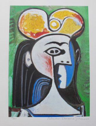 Pablo Picasso GIRL WITH BLACK HAIR AND YELLOW HAT Estate Signed Limited Edition Giclee